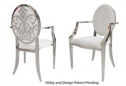 Dior Armchair (Silver)