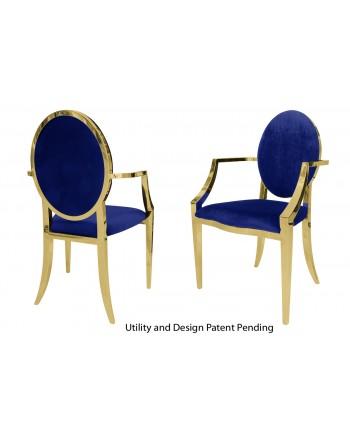 Tiffany Armchair (Gold-Royal)