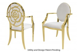 Rose Armchair (Gold)