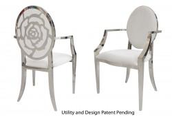 Rose Armchair (Silver)