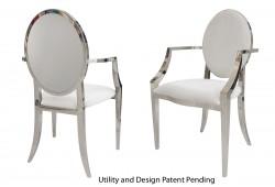 Round Armchair (Silver)