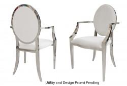 Tiffany Armchair (Silver)