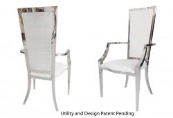 Rectangular Armchair (Silver)