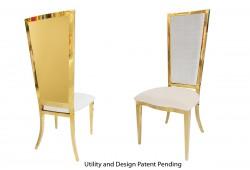 Rectangular Chair (Gold)