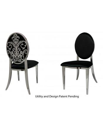 Dior Chair (Silver-Black)