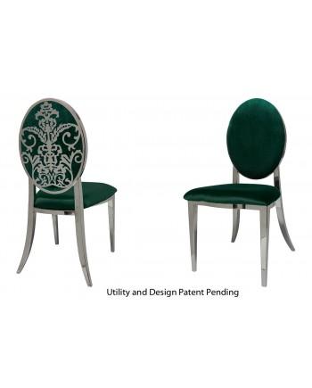 Dior Chair (Silver-Emerald)