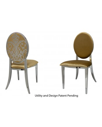Dior Chair (Silver-Gold)