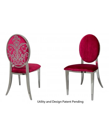 Dior Chair (Silver-Red)