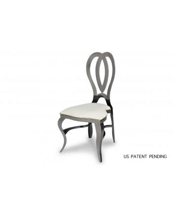 Halexandria Chair (Gun Metal-White)