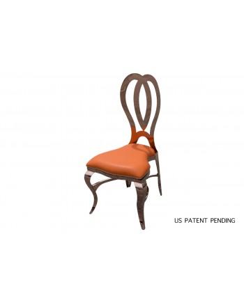 Halexandria Chair (Rose Gold-Orange)