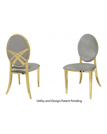 Lasso Chair (Gold-Silver)