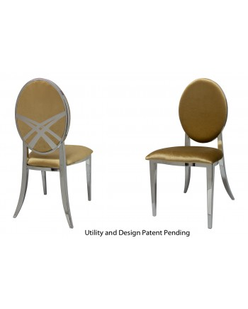 Lasso Chair (Silver-Gold)