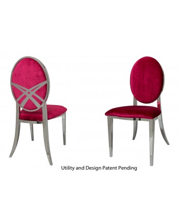 Lasso Chair (Silver-Red)