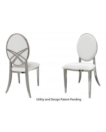 Lasso Chair (Silver-White)