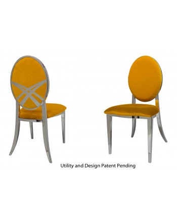 Lasso Chair (Silver-Yellow)