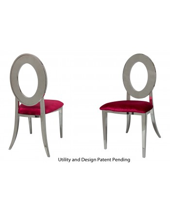 Oz Chair (Silver-Red)