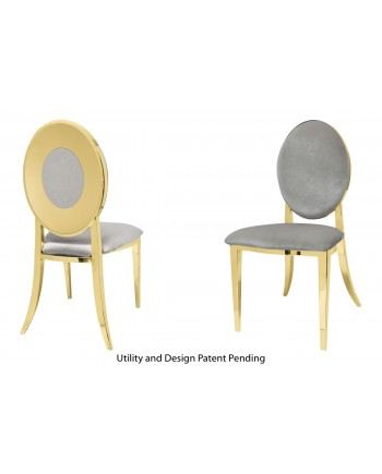 Oz Plus Chair (Gold-Silver)