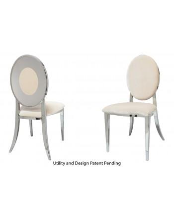 Oz Plus Chair (Silver-Champagne)