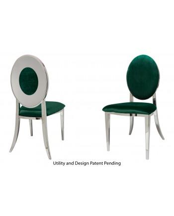 Oz Plus Chair (Silver-Emerald)