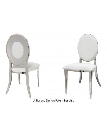 Oz Plus Chair (Silver-White)
