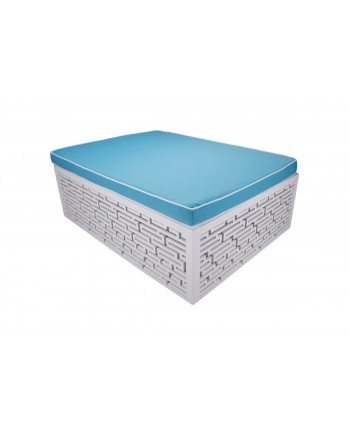 Maze Bed (Turquoise)