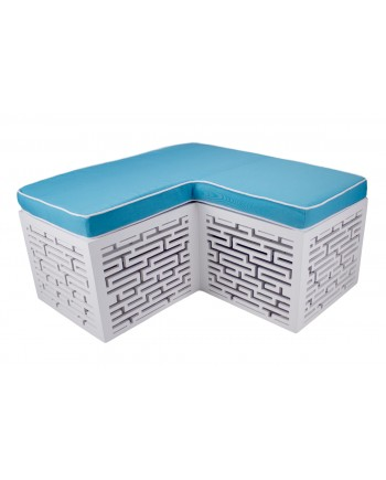Maze Bench (L-Shape) (Turquoise)