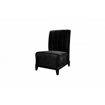 Velvet Chair (Armless with Lines)