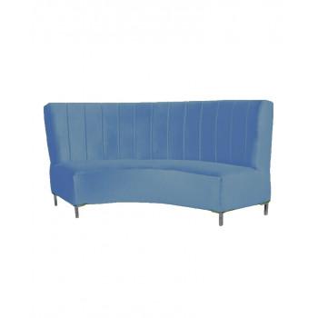 Velvet Curve Sofa 9' (Blue)