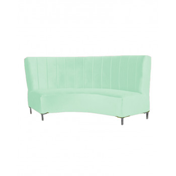 Velvet Curve Sofa 9' (Mint)