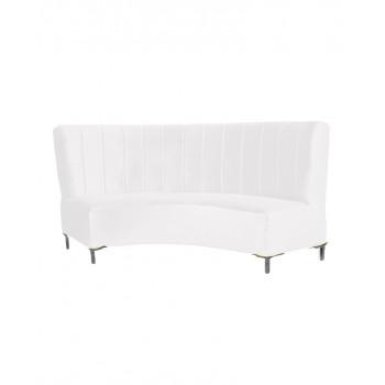 Velvet Curve Sofa 9' (White)