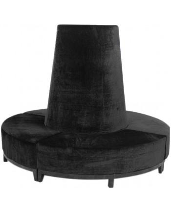 Velvet Banquette (Black)