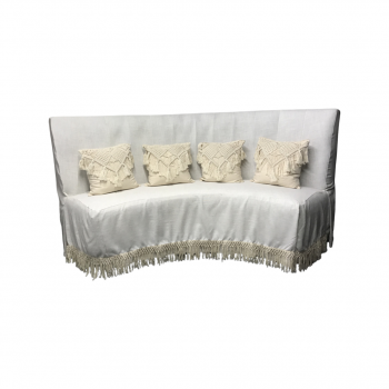 Curved Boho Chic Sofa