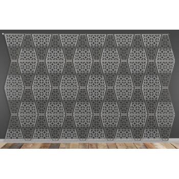 Laser Cut Wall (Target Design) Silver
