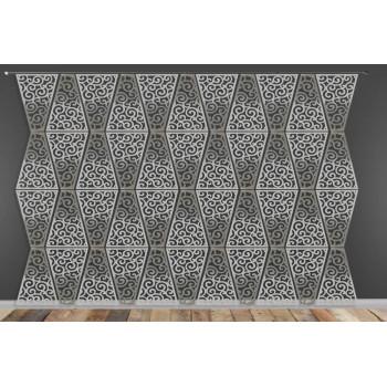 Laser Cut Wall (Wave Design) Silver