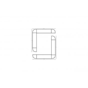 Modular Bar O Shape 12.5' x 12.5'
