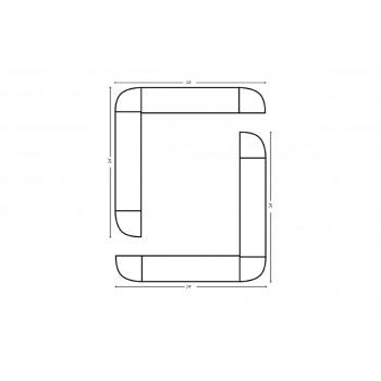 Modular Bar O Shape 24' x 24'