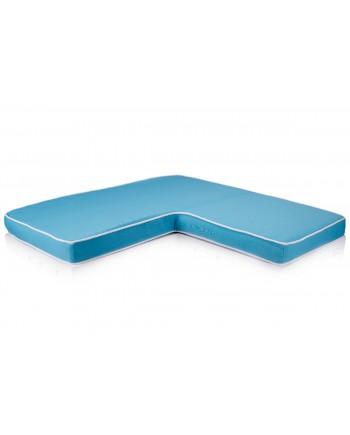 Maze L Shape Cushion Turquoise 36x36x18x4
