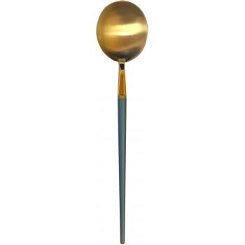 GOA Dinner Spoon (Gold-Blue)