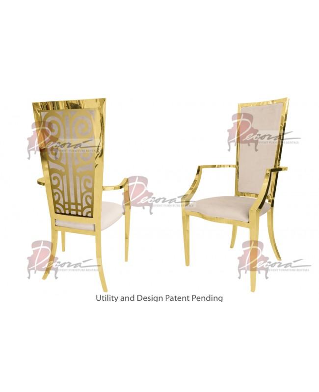 Valentino Armchair (Gold-Champagne)