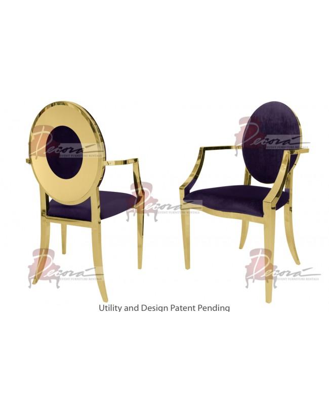 Oz Plus Armchair (Gold-Eggplant)