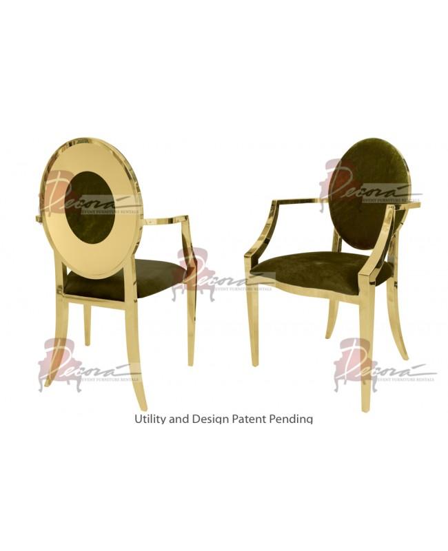 Oz Plus Armchair (Gold-Moss)