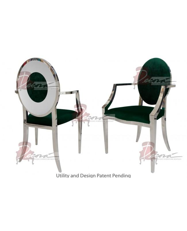 Oz Plus Armchair (Silver-Emerald)