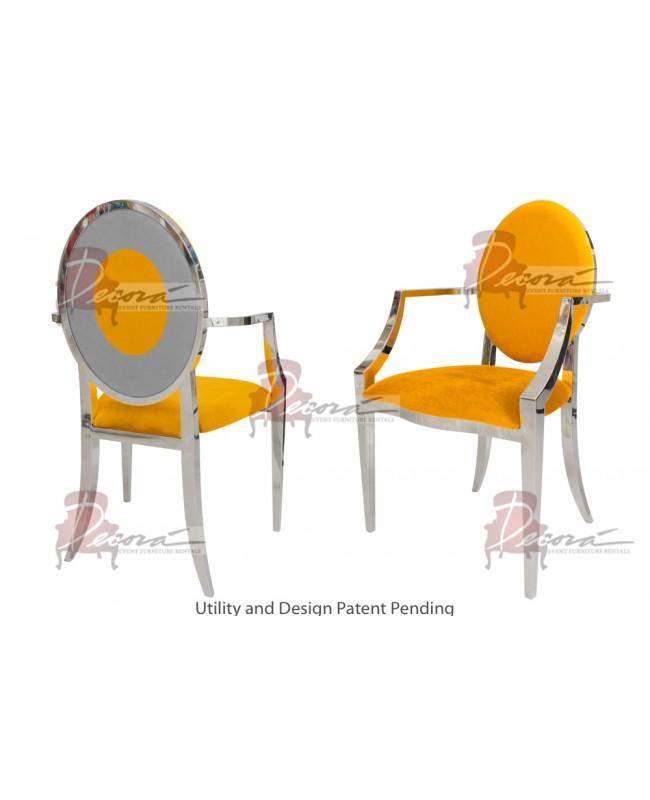 Oz Plus Armchair (Silver-Yellow)