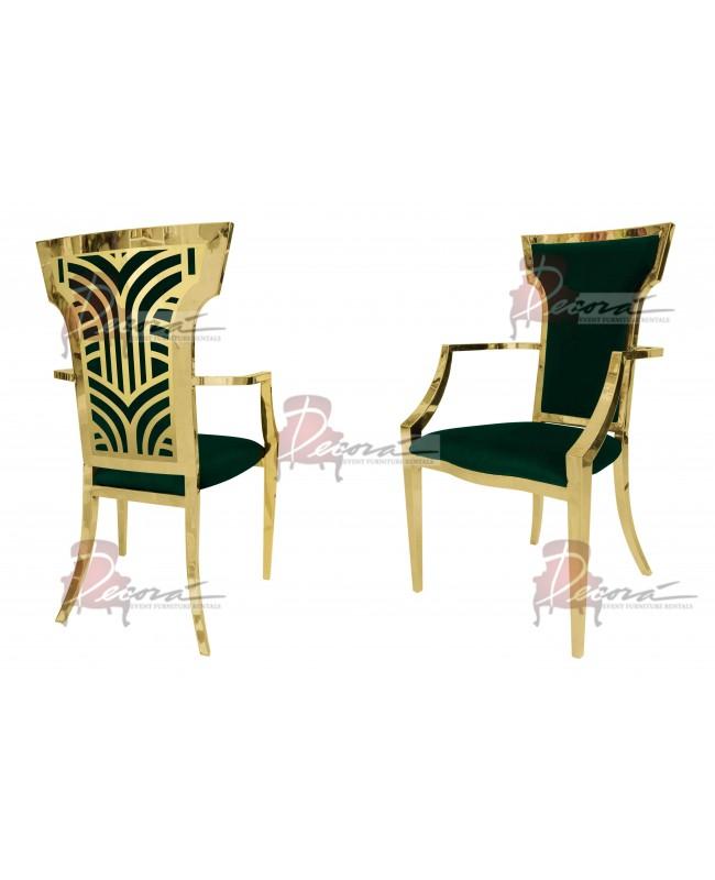 Rockefeller Armchair (Gold-Emerald)