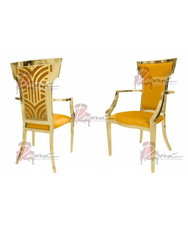 Rockefeller Armchair (Gold-Yellow)