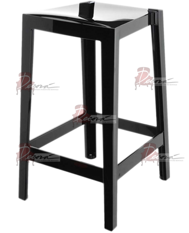 Ghost Barstool Black (Without Back)
