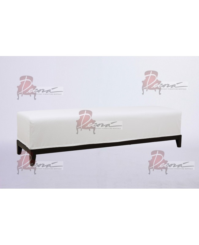 Contemporary Bench (White Legs)