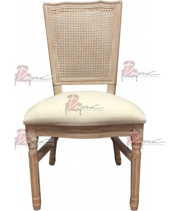 Louis Cane Back Chair (Square)