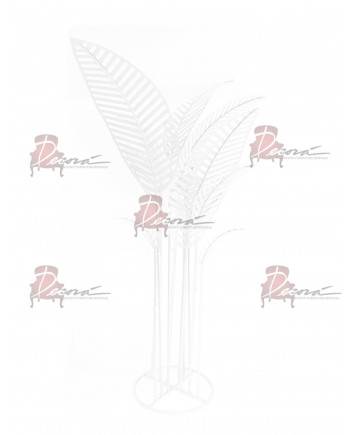 Metal Palm Tree (White)