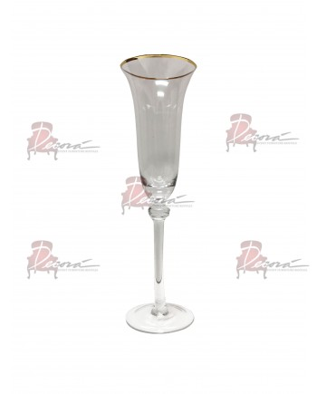 Glitz Champagne Flute (Gold) (Rack 25) Glassware